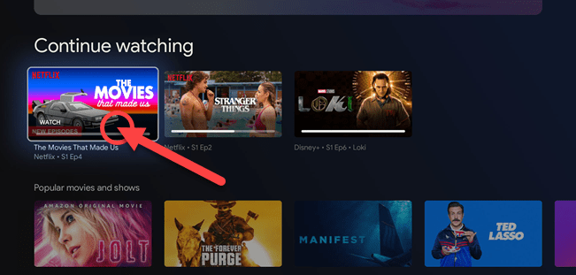 Highlight the title and hold down the OK or Select button.