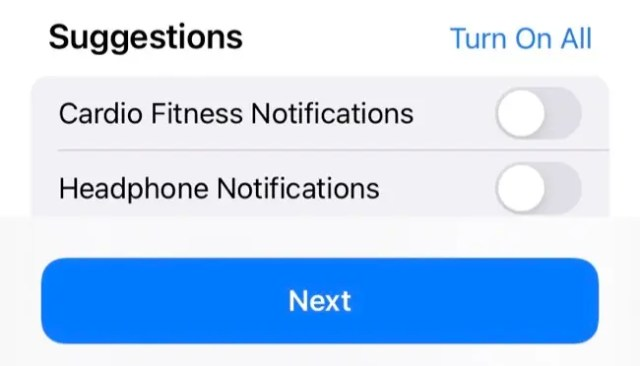 Share Health Notifications in iPhone Health App