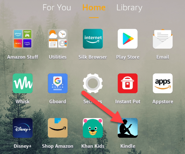 Open the Kindle app.