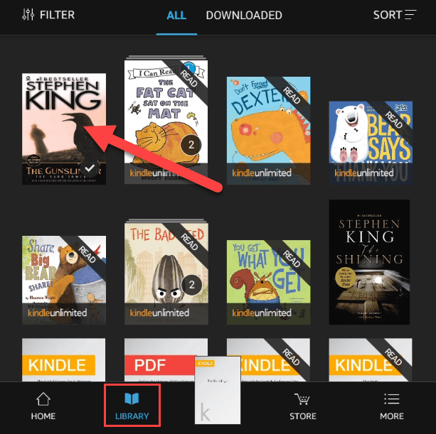 Books from your Amazon library.