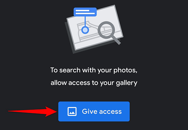 """Tap """"Give Access"""" in Google Lens."""