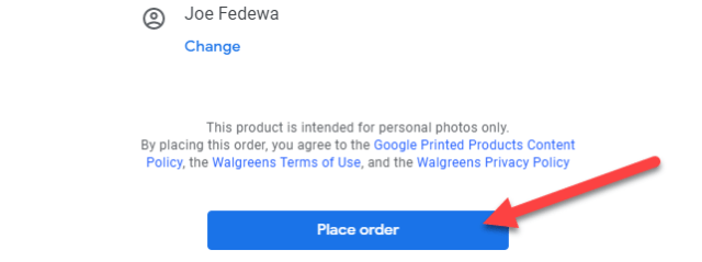 """The final step is to click """"Place Order."""""""