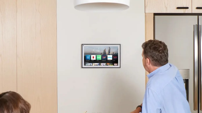 Echo Show 15 on a wall