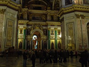 The holy interior of St. Isaac's Cathedral