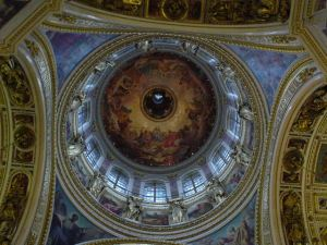 The holy dome of St. Isaac's Cathedral