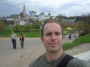 Me in front of the monastery at Sergei Posad (formerly Zagorsk)
