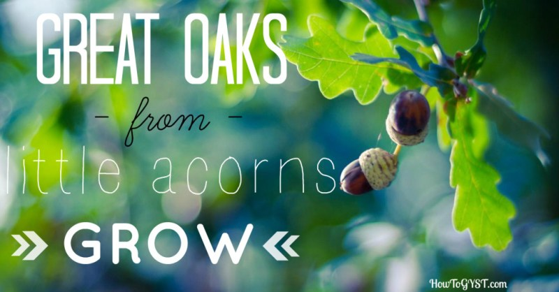 One small change. Great oaks from little acorns grow