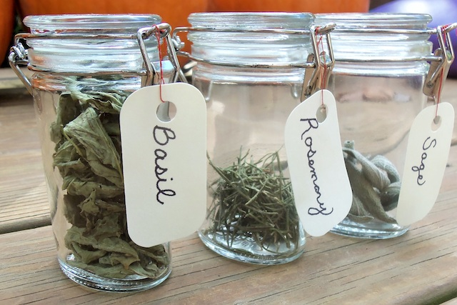 Dried Herbs in Jars