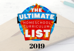 2019 Ultimate Homeschool Curriculum List
