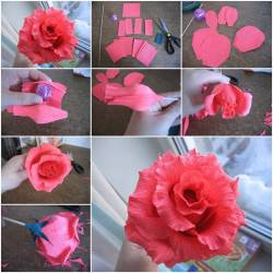 Making paper flowers roses gardening flower and vegetables paper ribbon flower making choice image flower decoration ideas mightylinksfo