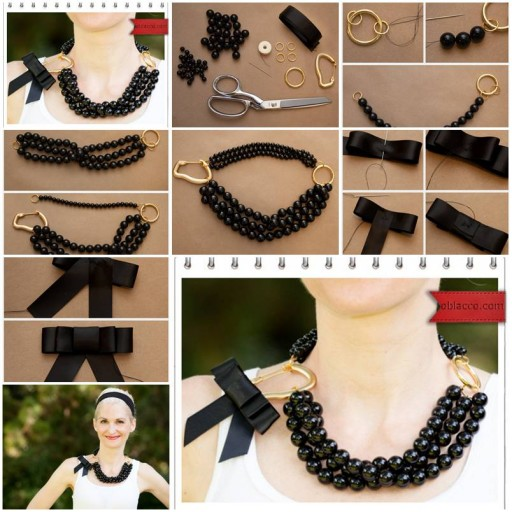 How To Make Necklace Of Beads Or Pearl Step By Step DIY