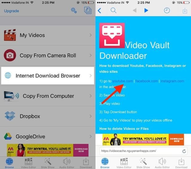 Download YouTube video for offline play in iPhone, iPad ...