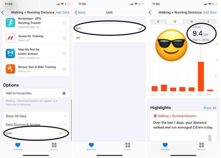Приложение «Конвертировать приложение Halth» на iPhone