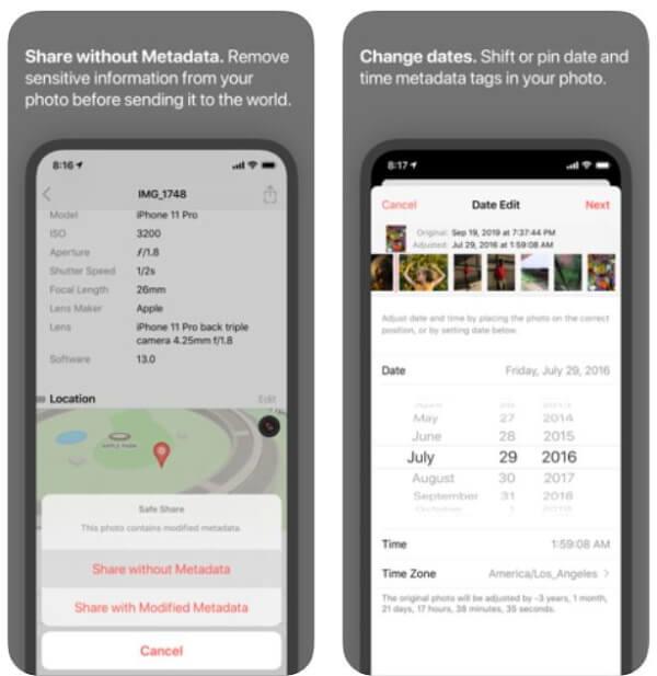 Приложение Metapho EXIF Metadata для iOS