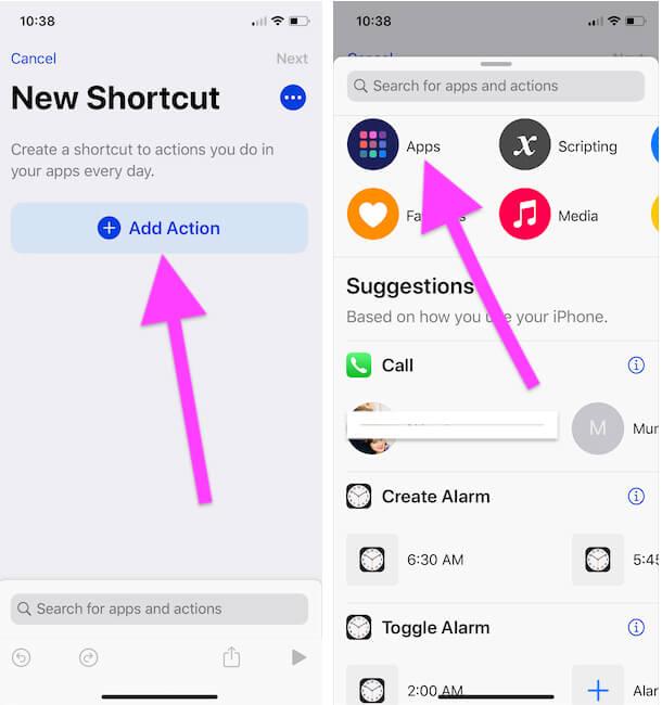 4 Создайте ярлык для приложения, установленного на вашем iPhone