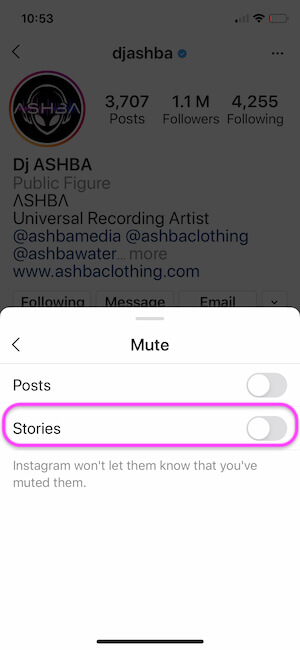 Отключите Истории в своем приложении для iPhone в Instagram