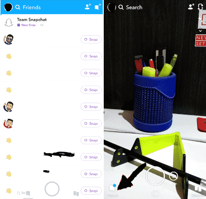 How to see your friends list on snapchat app