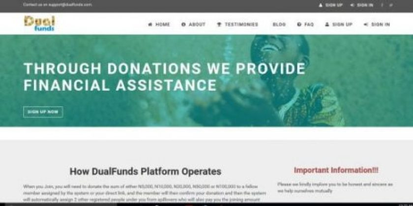 Dualfunds.com Login Account – Dual Funds, New Ponzi Scheme to Register