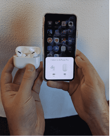 Air Pod - Steps To Check your Air Pod's Battery Percentage on an iPhone