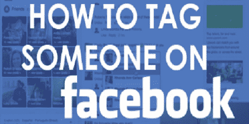 How to tag someone of Facebook