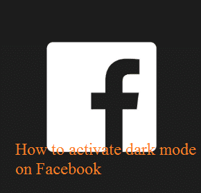 How to activate dark mode on Facebook