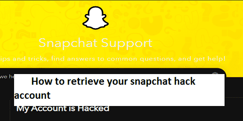 How to retrieve your snapchat hack account