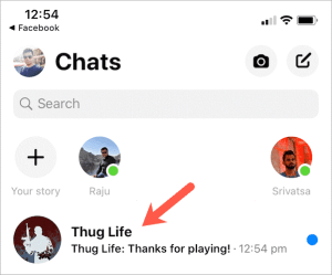 Delete Thug Life Game from Facebook Messenger
