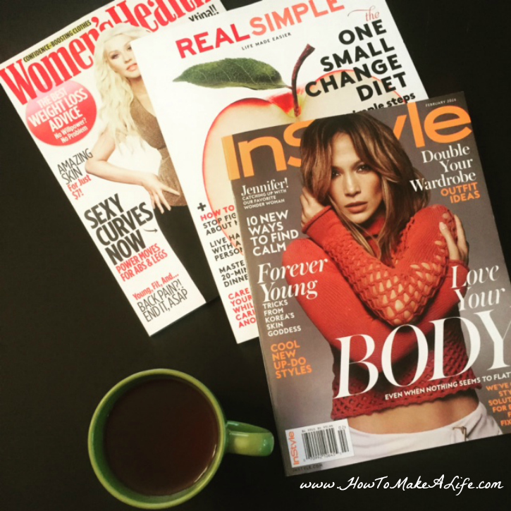 Magazines and tea