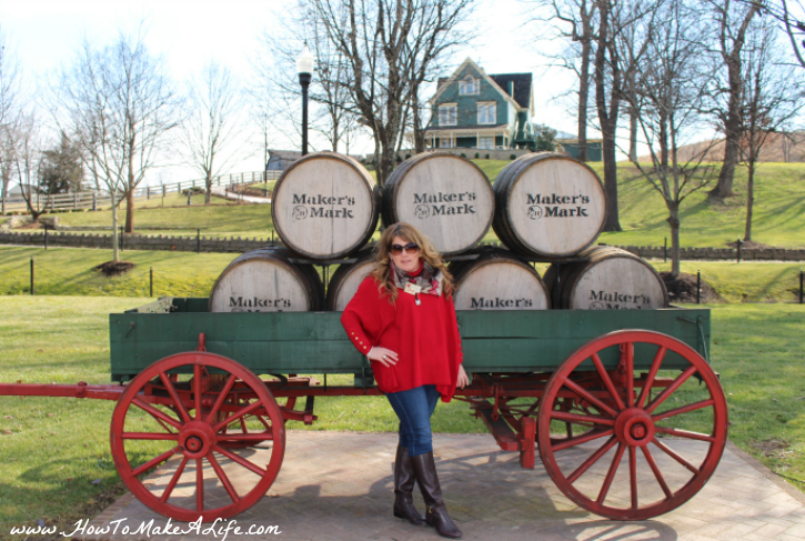 Maker's Mark Barrels and wagon