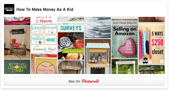 Ways for kids to make money on pinterest