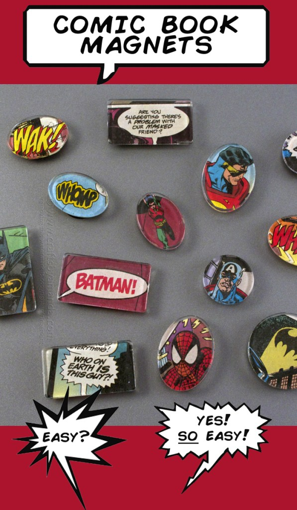 crafts-to-make-and-sell-for-profit-comic-book-magnets, crafts to make and sell, crafts for kids, crafts to make and sell for teens, crafts for teens to make, crafts for teens to make and sell, crafts for teens to make diy, crafts for teens to make for room, crafts for teens to make when bored