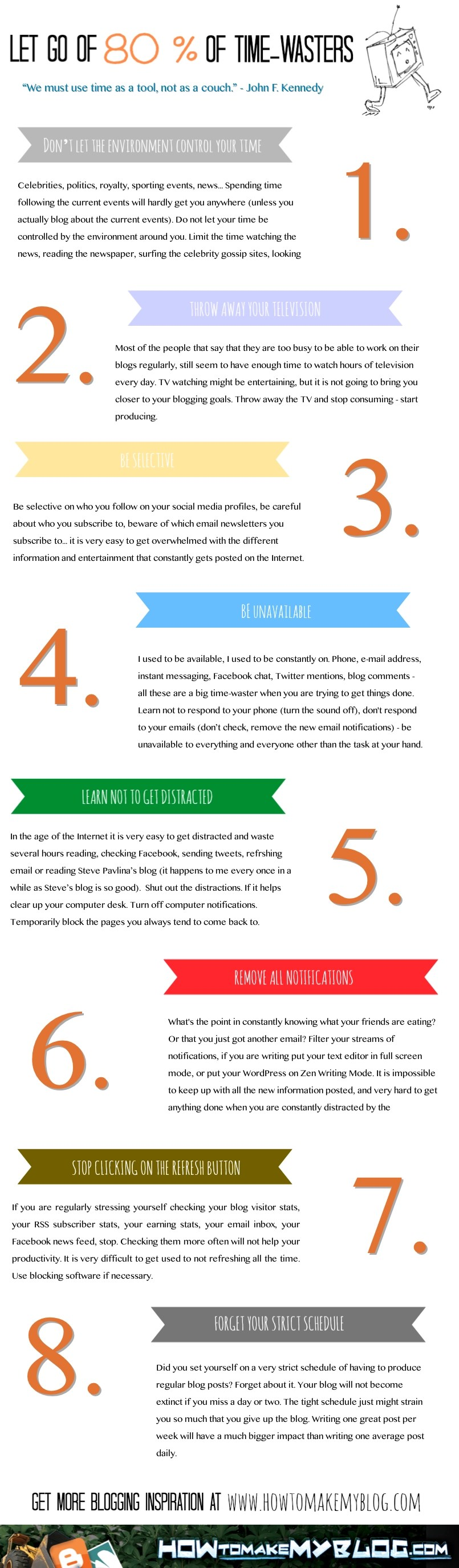 8 Time-Wasters You Should Let Go Of To Become More Productive [Infographic]