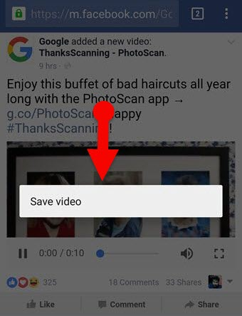 Save_Facebook_Video_button_on_mobile