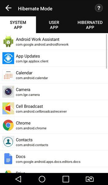 Systweak Android Cleaner Hibernate Mode