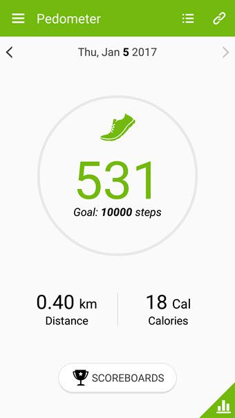 step counter app for Samsung Galaxy
