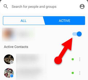Show offline on facebook messenger