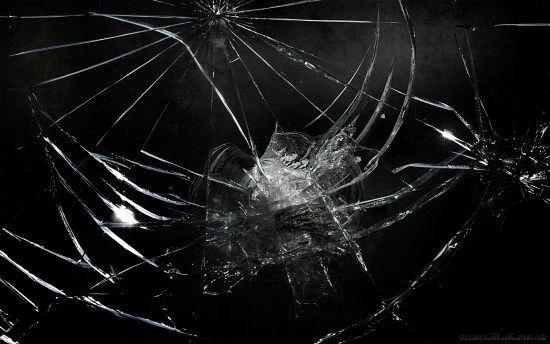 cracked screen background