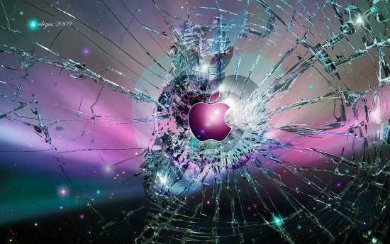 cracked screen wallpaper mac