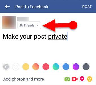 how to make facebook posts private on Mobile