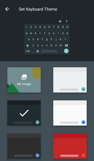Android Google Indic Keyboard Theme