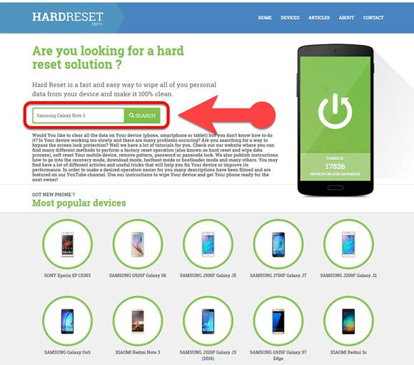 how to factory reset