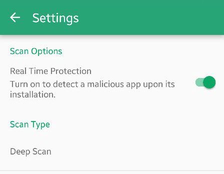 Systweak Anti-Malware app settings