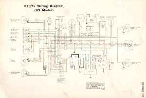 Kawasaki KE175 Service Manual & Wiring Diagram