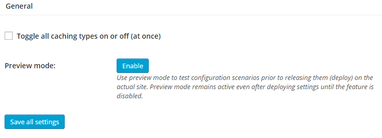 It's not important to enable the general module because it is possible that some of the options which enable by General module may not support your hosting provider which affect your site speed and make your site loading slower.So ignore this setting and skip to the next module.