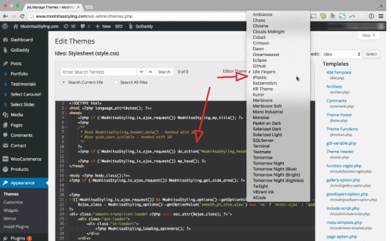 WP Backend File Search & Editor Tweaks
