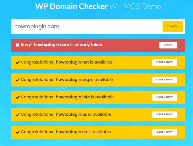 Domain Checker WordPress plugin