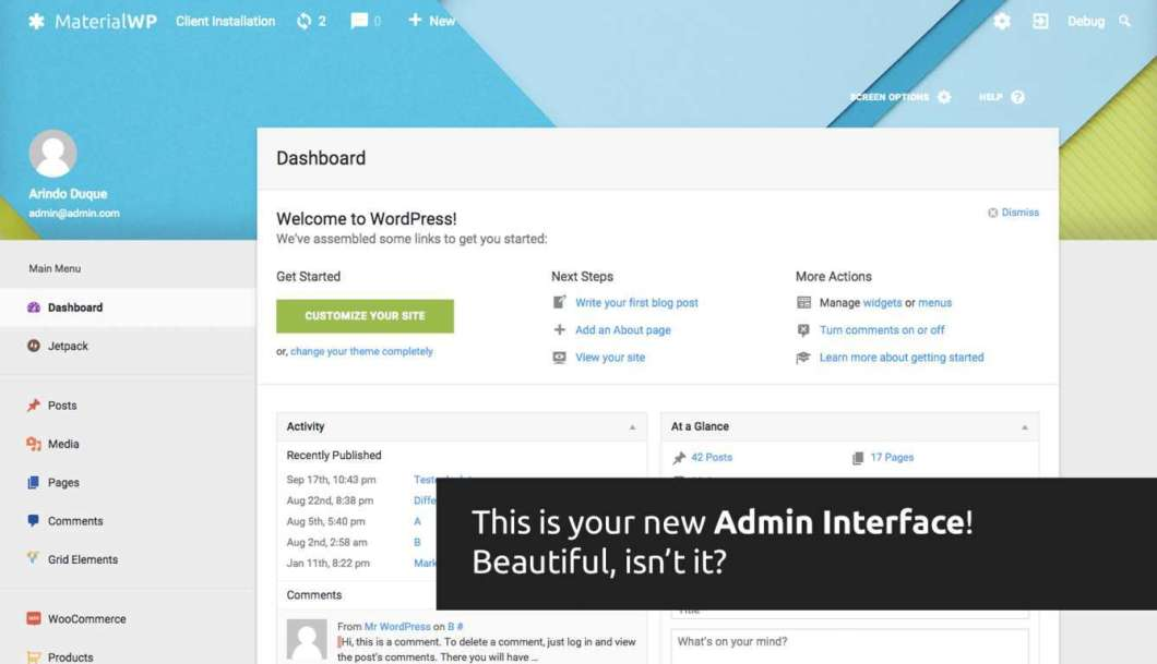 Customize WordPress Dashboard