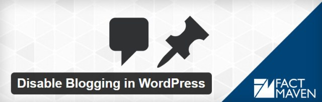 Disable Blog Features in WordPress