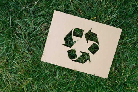 How to Recycle Symbol on Grass