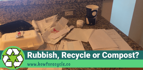 Title Shot of Rubbish, Recycle, or Compost